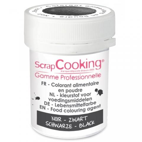Colorant alimentaire en poudre noir Scrapcooking 4045