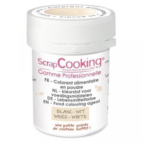 Colorant alimentaire en poudre blanc Scrapcooking 4046