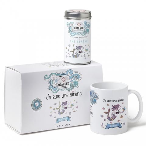 """Coffret thé """"Je suis une Sirène"""" Quai Sud 1TJSSBPCF"""