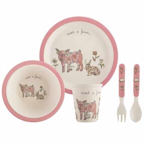 "Set enfant ""Visit a Farm"" cochon Creativetops 5178966"