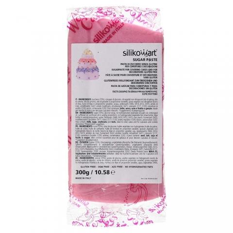 Pâte à sucre rose 300 G Silikomart
