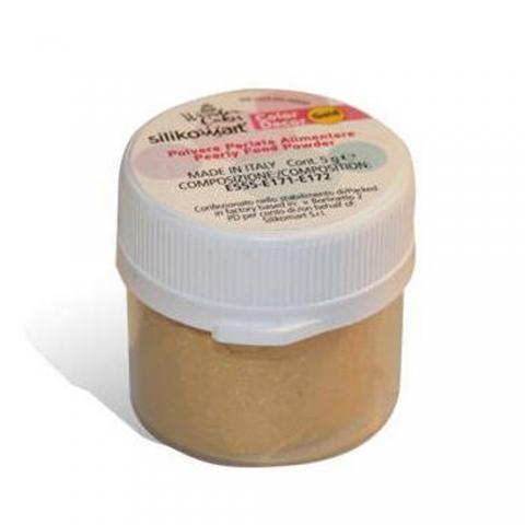Colorant en poudre perlé doré 5 G Silikomart