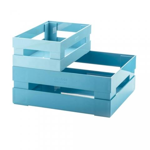 Lot de 2 Cagettes bleu GUZZINI