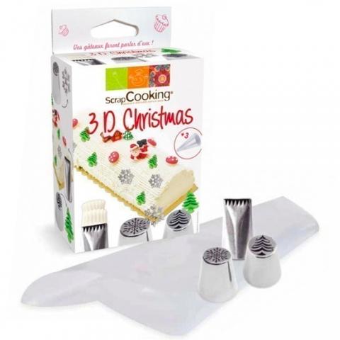 Kit douilles 3D Christmas SCRAPCOOKING