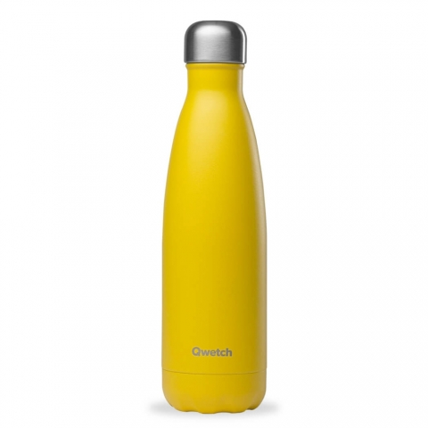 Bouteille isotherme Pop Jaune QWETCH 500 ML QD3018