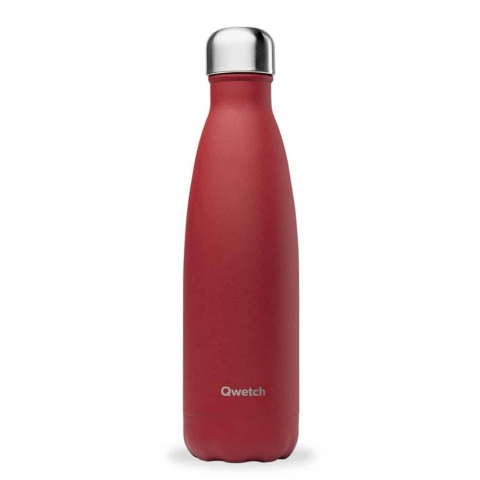 Bouteille isotherme Granite Rouge QWETCH 500 ML QD3123