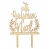 Cake Topper Bois Joyeux Noël ScrapCooking 4999