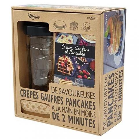Coffret shaker crêpes pancakes gaufres et tartineur COOKUT MIAMCAD
