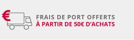 Frais de port offerts à partir de 50€ d\'achats